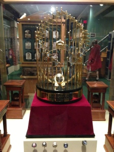 The World Series Trophy from 1995 in the Braves Museum