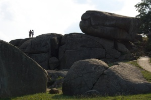 Some of the fiercest fighting occurred around the rocks of Devil's Den. The two people on top of one of the rocks give you sense of the scale.